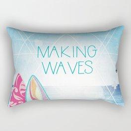 Making Waves - Sunset Rectangular Pillow