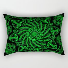 Dreamspun (Black+Lime) Rectangular Pillow