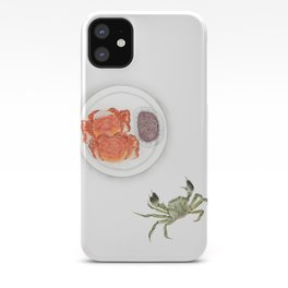 Watercolor Illustration | Chinese Cuisine | Hairy Crab | 大闸蟹 iPhone Case