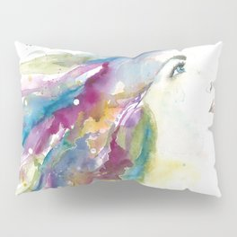 Woman Facing Up Pillow Sham