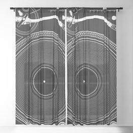 DJ TURNTABLE - Technics Sheer Curtain