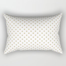 Gold Christmas Stars on Snow White Rectangular Pillow