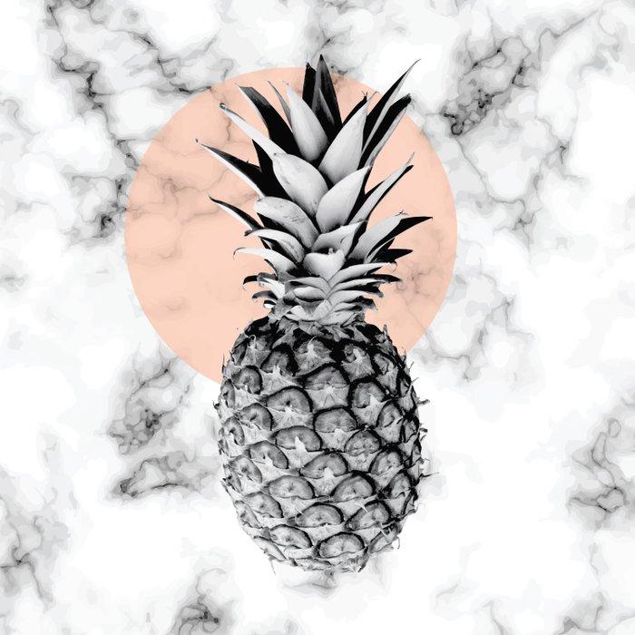 Marble Pineapple 053 Duvet Cover