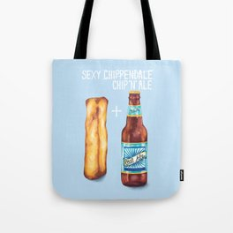 Food Pun - Sexy Chip 'N' Ale Tote Bag