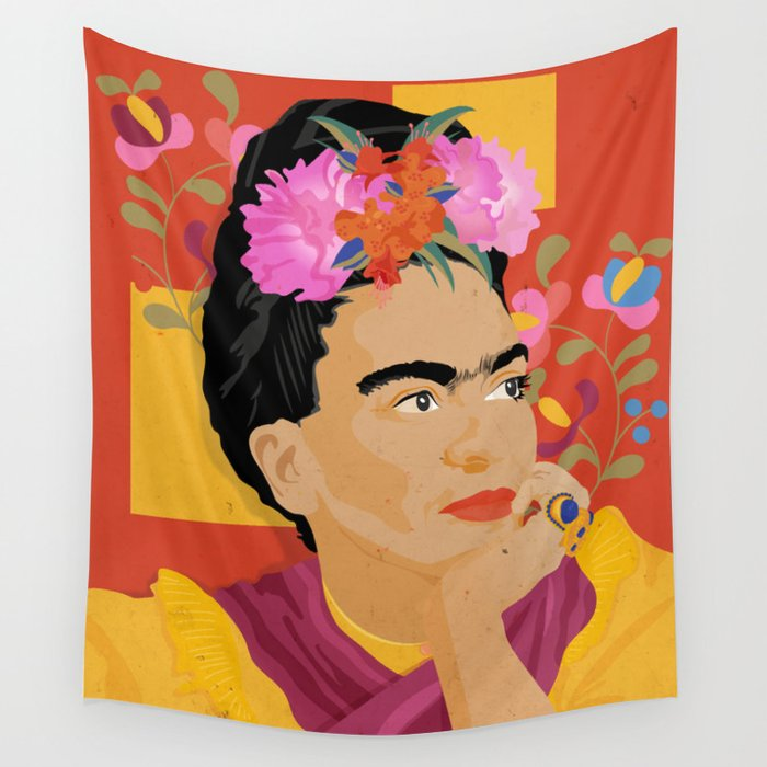Frida - a colorful mind Wall Tapestry