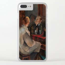 Alvar Cawen - Members of The November Group - 1921, man, seating, art Clear iPhone Case