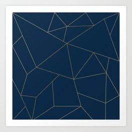Golden Crystal Web Pattern Art Print