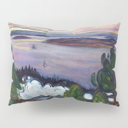 Train Smoke by Edvard Munch Pillow Sham
