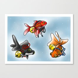Goldfish Sheet Canvas Print