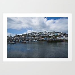 Brixham The Colourful Harbour Art Print