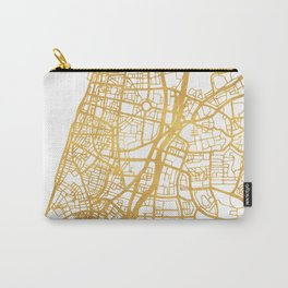 TEL AVIV ISRAEL CITY STREET MAP ART Carry-All Pouch