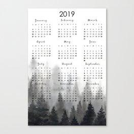 2019 calendar Canvas Print