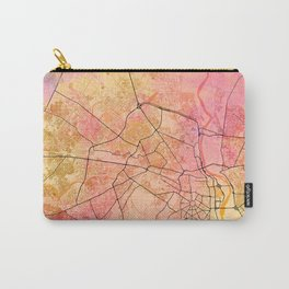 Delhi India Street Map Art Watercolor Color Carry-All Pouch