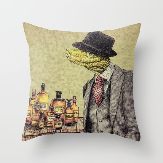 100% Genuine Throw Pillow