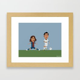 Di Maria vs Puyol Framed Art Print