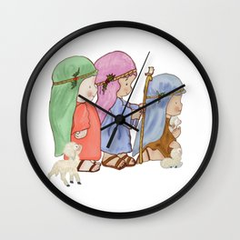 The three kings nativity Wall Clock