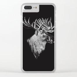 Deer head modern design Clear iPhone Case