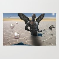 angel Area & Throw Rugs featuring angel  by mark ashkenazi
