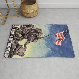 Raising the Flag on Iwo Jima Rug