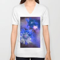 passion V-neck T-shirts featuring Passion by Bunny Clarke