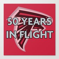 nfl Canvas Prints featuring NFL - Falcons 50 Years by Katieb1013