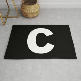 letter C (White & Black) Rug