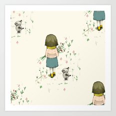 A walk, pattern Art Print