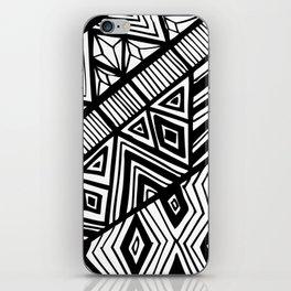 Original Geometric ink-pen print iPhone Skin