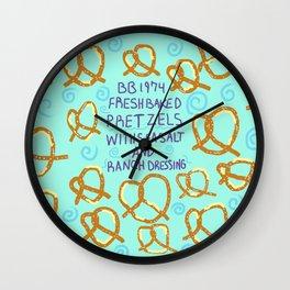 Free Pretzels On Bwilly Bwightt Wall Clock