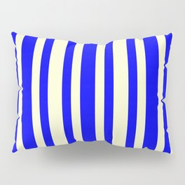 Light Yellow and Blue Colored Lines/Stripes Pattern Pillow Sham