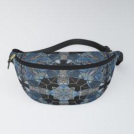 blue symmetric fantasy pattern IV Fanny Pack