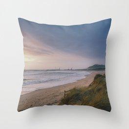 Rodanho beach, Viana do Castelo, Portugal. (II) Throw Pillow