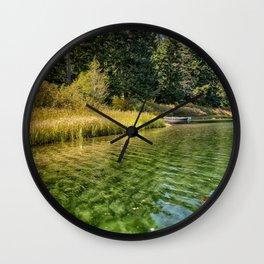 Jewel Like Tones of Clear Lake Wall Clock