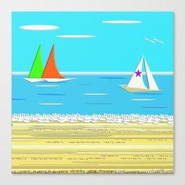 Sailing - Beach Life Canvas Print