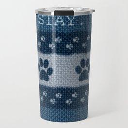 Pet Lover, Knitter, Artist. Blue. Travel Mug