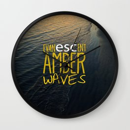 Evanescent Escape ~ Amber Waves Wall Clock