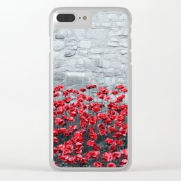 Tower Poppies 02B Clear iPhone Case