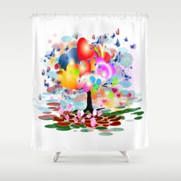 Frühlingstraum Shower Curtain