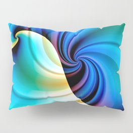 Part of a Wave (blue-cream) Pillow Sham