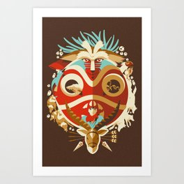 The Days of Gods and Demons Art Print