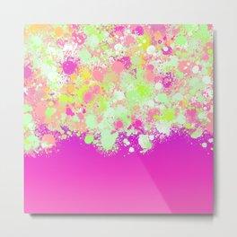 paint splatter on gradient pattern pgoi Metal Print