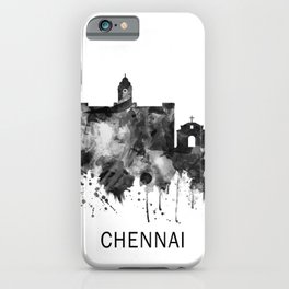 Chennai Tamil Nadu Skyline BW iPhone Case
