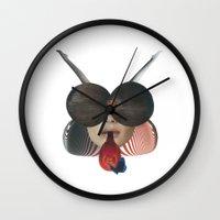 ladybug Wall Clocks featuring Ladybug by fabiotir