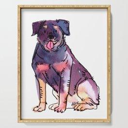 Regan - Dog Watercolour Serving Tray