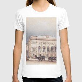 Lower Austrian Country House In Vienna Viewed From Minoritenplatz 1845 by Rudolf von Alt | Reproduct T-shirt