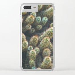 Botanical Gardens Cactus #596 Clear iPhone Case