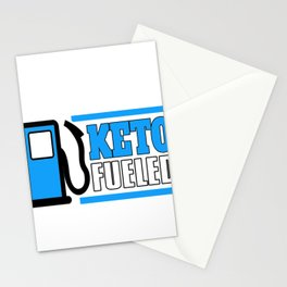 Keto Fueled LCHF Diet Kentones Low Carb High Fat Diet Stationery Cards