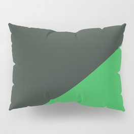 Dark Grey & Bright Green - oblique Pillow Sham