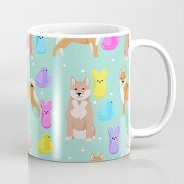 Shiba Inu dog breed peeps marshmallow easter spring dog pattern gifts Shiba Inus Coffee Mug