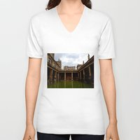 england V-neck T-shirts featuring Bath, England by Samantha Brockbank